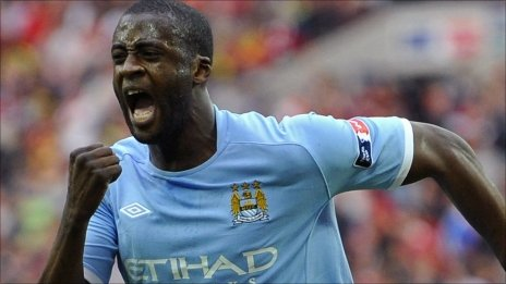 Manchester City goalscorer Yaya Toure