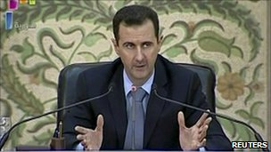 Bashar al-Assad delivers address 16 April 2011