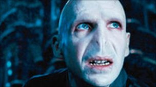 Royal Mail stamp of Harry Potter Lord Voldemort character