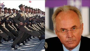 North Korean military and Sven-Goran Eriksson