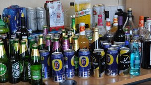 Drink confiscated by police at Barry Island