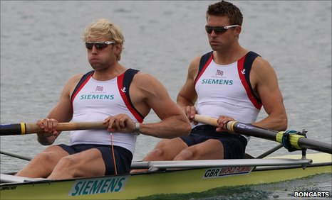 Andrew Triggs Hodge and Pete Reed