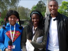 School Reporters with Colin Jackson