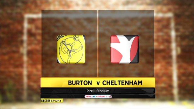 Burton v Cheltenham highlights