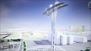 Artist's impression of the cable car scheme
