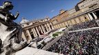 Pope Benedict XVI celebrates the Palm Sunday Mass in St Peter's Square in the Vatican, 17 April 2011
