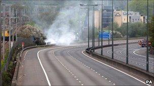 M1 motorway closed after scrapyard fire