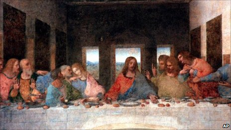Leonardo da Vinci's representation of the Last Supper
