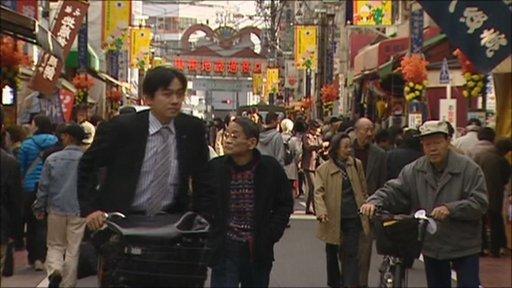 Street scene in Asia