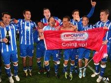 Brighton celebrate promotion