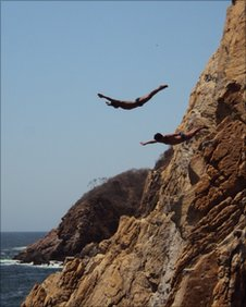 Divers in Acapulco