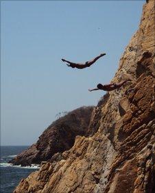 Divers in Acapulco