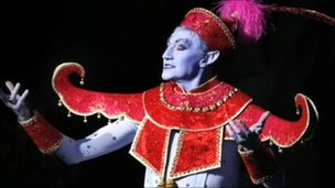 Paul O'Grady in Aladdin as the Genie