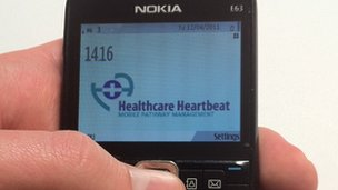A Nokia handset running Healthcare Heartbeat software
