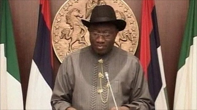 Nigerian President Goodluck Jonathan