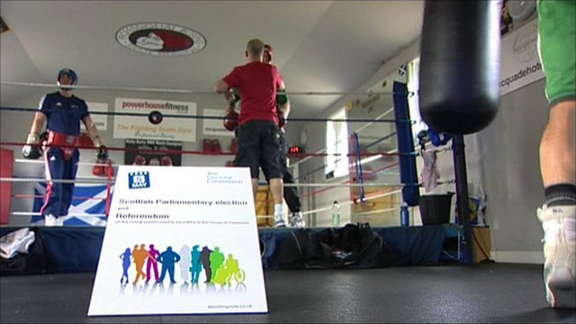 Voting pack for 5 May in a boxing gym