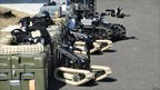 Line-up of QinetiQ robots