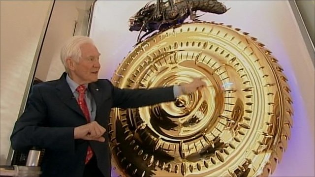 Dr John Taylor with his handless clock