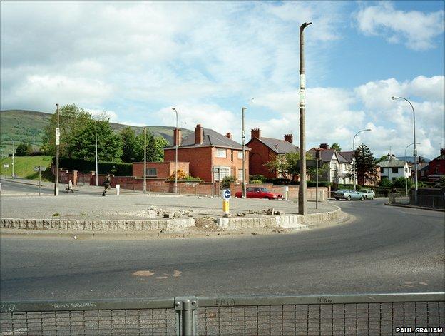 Roundabout, Andersonstown, Belfast, 1984, Paul Graham