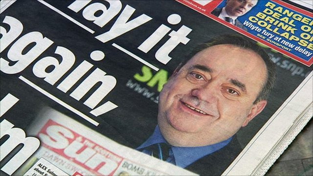 The Scottish Sun has announced that it is supporting the SNP in the Holyrood election