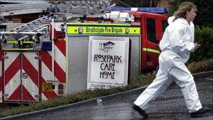 Fire brigade at Rosepark care home
