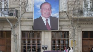 Poster of President Ilham Aliyev in Baku