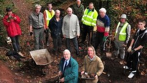 Members of the Ancient Cwmbran project