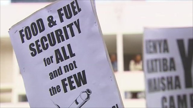 Protest placards in Kenya