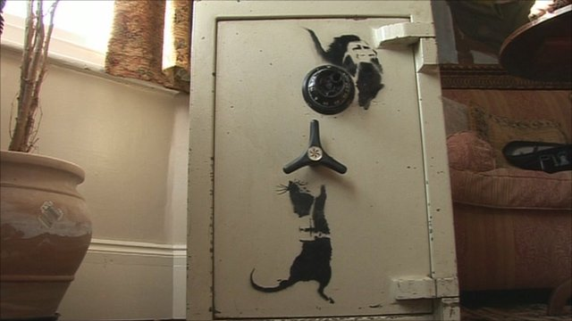 The artwork was authenticated by Bansky's gallery