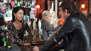 Kat Moon (Jessie Wallace) and Alfie Moon (Shane Richie) from EastEnders
