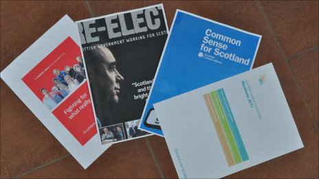 Four main party manifestos