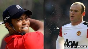 Tiger Woods and Wayne Rooney