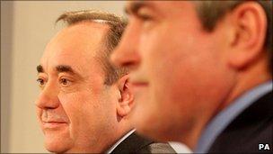 Alex Salmond and Iain Gray