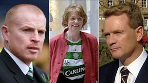 Neil Lennon, Trish Godman and Paul McBride