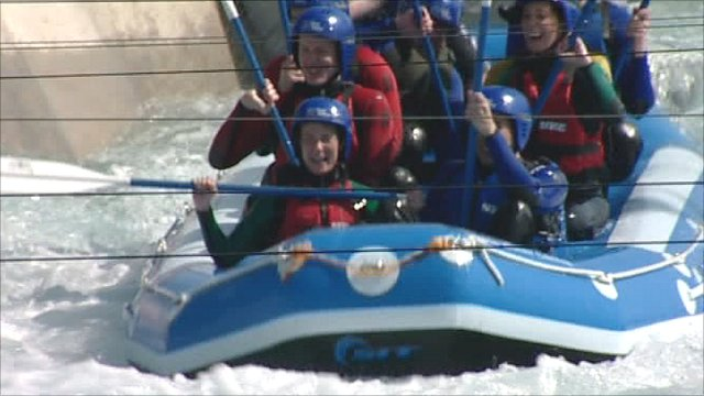 White water rafting at Lea Valley Park