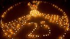 Candles lit to mark the 25th anniversary of Chernobyl explosion