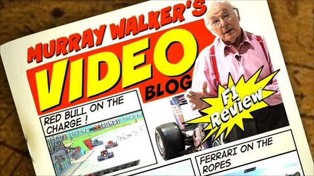 Murray Walker's video blog