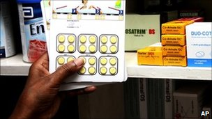 Malaria drugs in Nairobi, Kenya (20 April 2011)