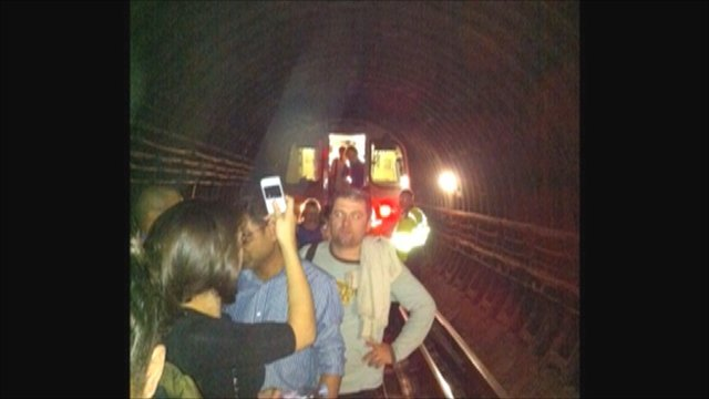 Passengers stuck in the Tunnels