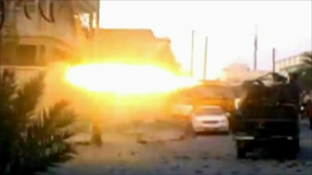 Gun firing in Misrata
