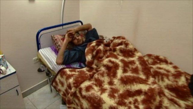 Patient in hospital in Misrata