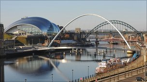 View of the River Tyne in Newcastle