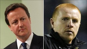 David Cameron and Neil Lennon