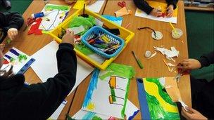 Primary school art class