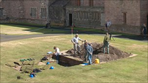 Archaeological dig at Bamburgh Castle