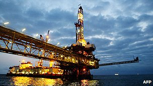 Oil rig off the coast of Angola