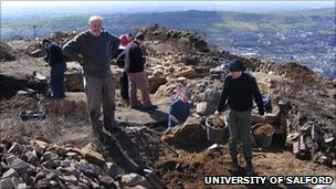 The dig at Buckton Castle in Stalybridge