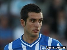Brighton midfielder Gary Dicker