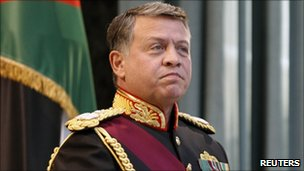 King Abdullah in Amman, November 2010