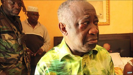 Laurent Gbagbo on the day of his capture